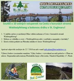 Soutěž o volné vstupenky na Cestu v korunách stromů a bobovou dráhu v St. Englmaru!